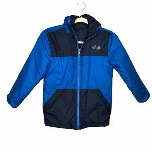 The North Face Blue Reversible Hooded Jacket Small
